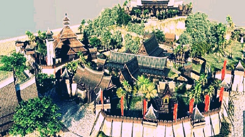 Malacca sultanate palace 1477 in 3d max vray 2.5 image