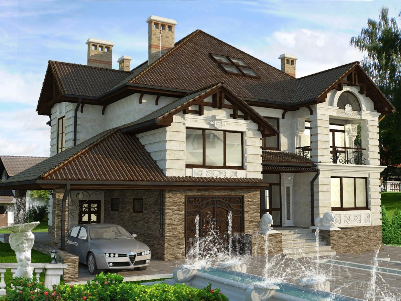 आवासीय भवन में Cojusna 3d max vray में प्रस्तुत छवि