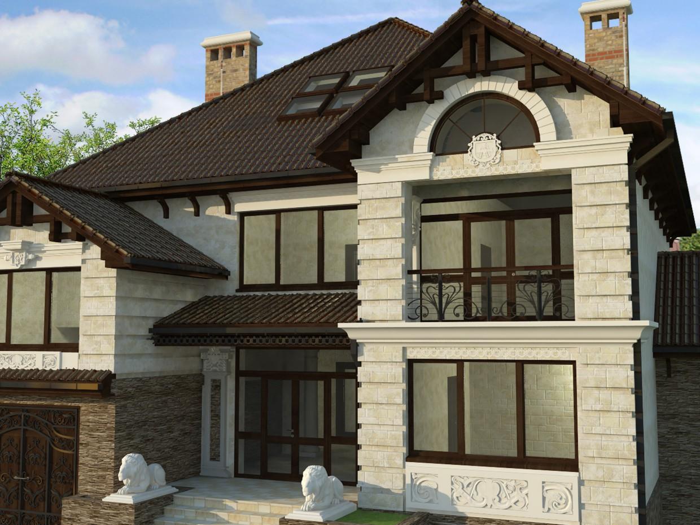 Житловий будинок в Кожушного в 3d max vray зображення