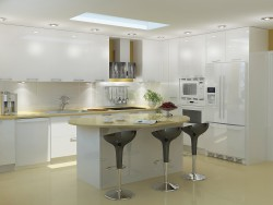 Big kitchen 3D visualization