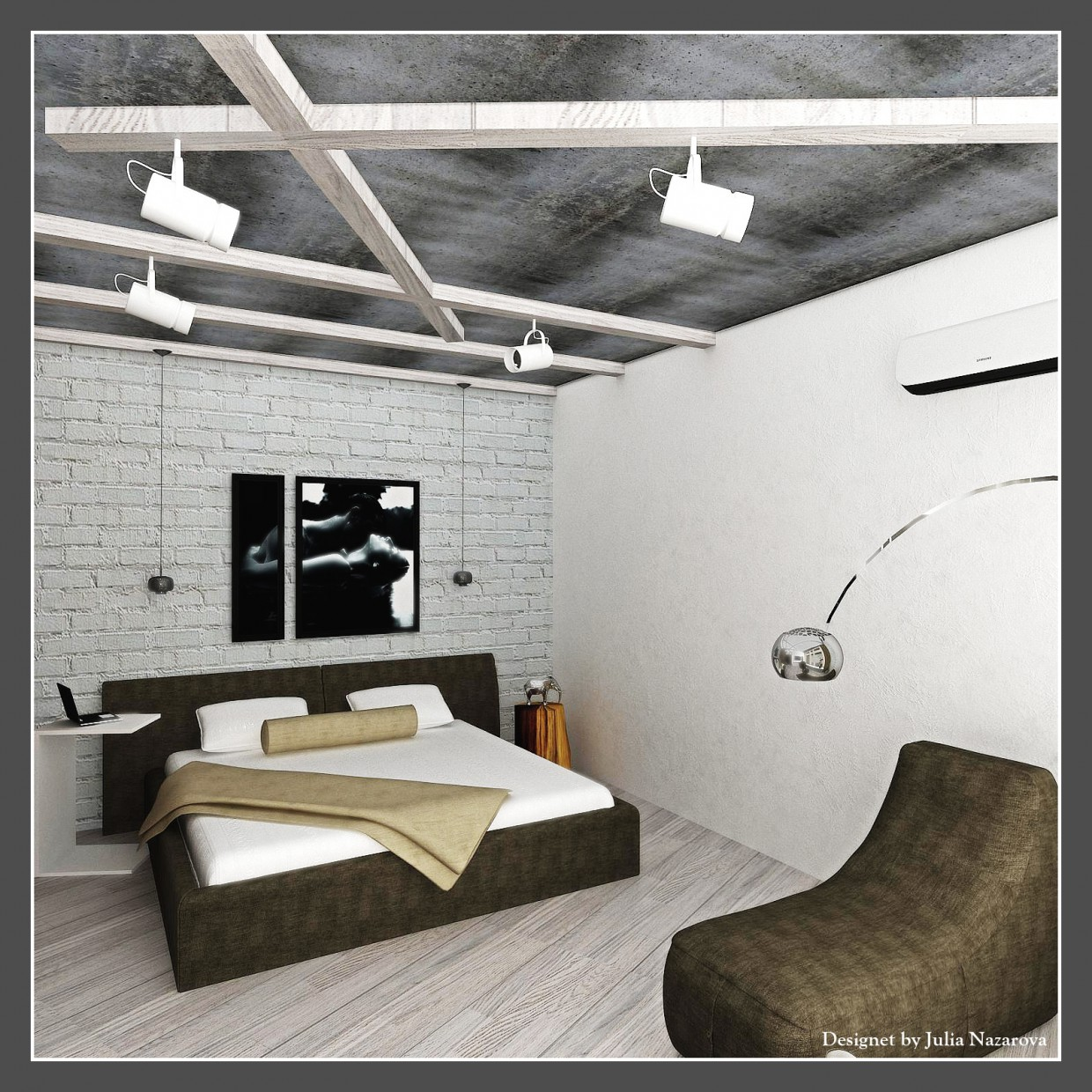 Bedroom + sitting area in 3d max vray 1.5 image