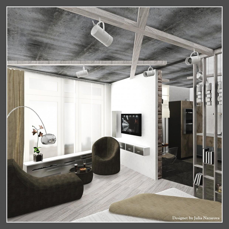 Спальня+зона отдыха в 3d max vray 1.5 изображение