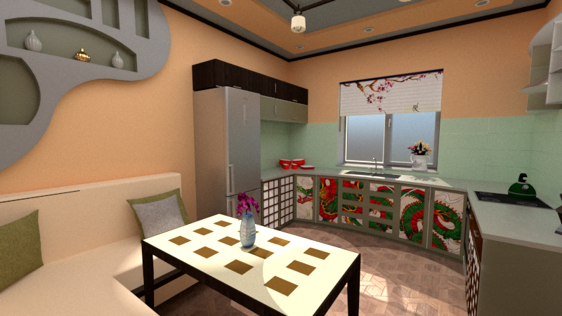 Kitchen in SketchUp vray 2.0 image