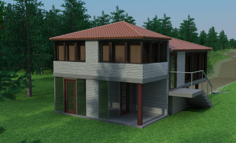 imagen de Casa en un bosque en 3d max vray
