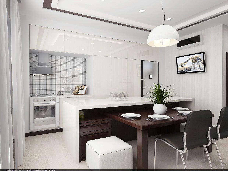 кухня-студия в Другое vray изображение