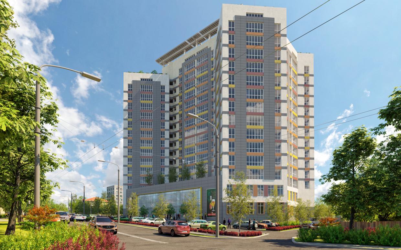 "Residential complex ""Nobel"" in 3d max corona render image"