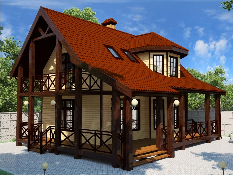 Дачний будинок в 3d max vray зображення