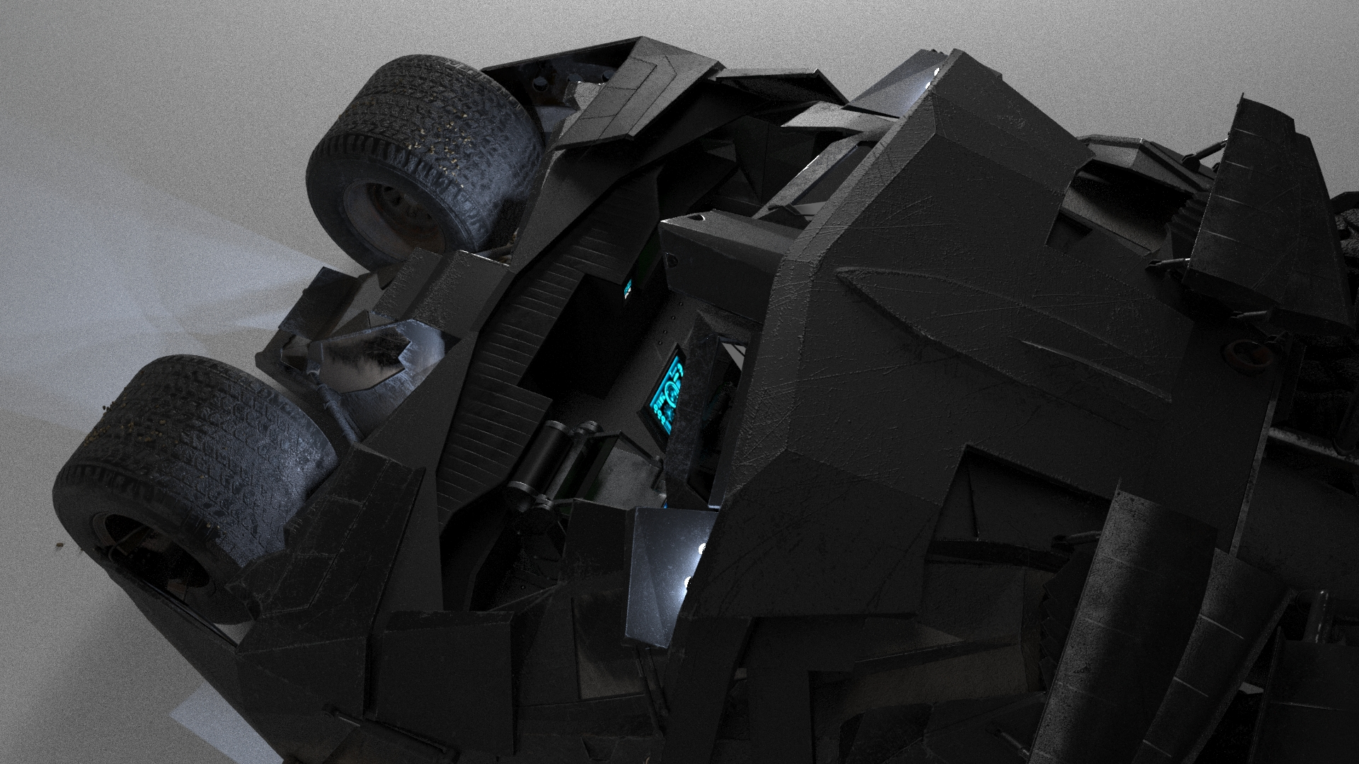 Batmobile Black Knight in 3d max corona render image
