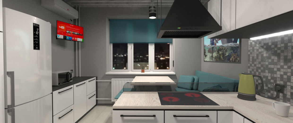 Kitchen in Blender cycles render image