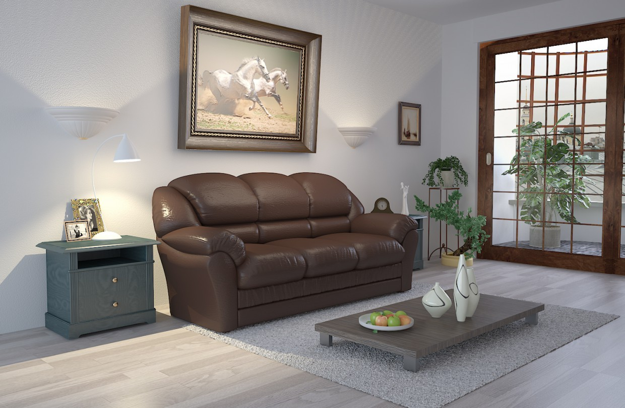 Drawing room in 3d max vray immagine