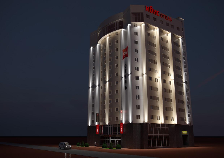 imagen de El Hotel Ibis en 3d max corona render