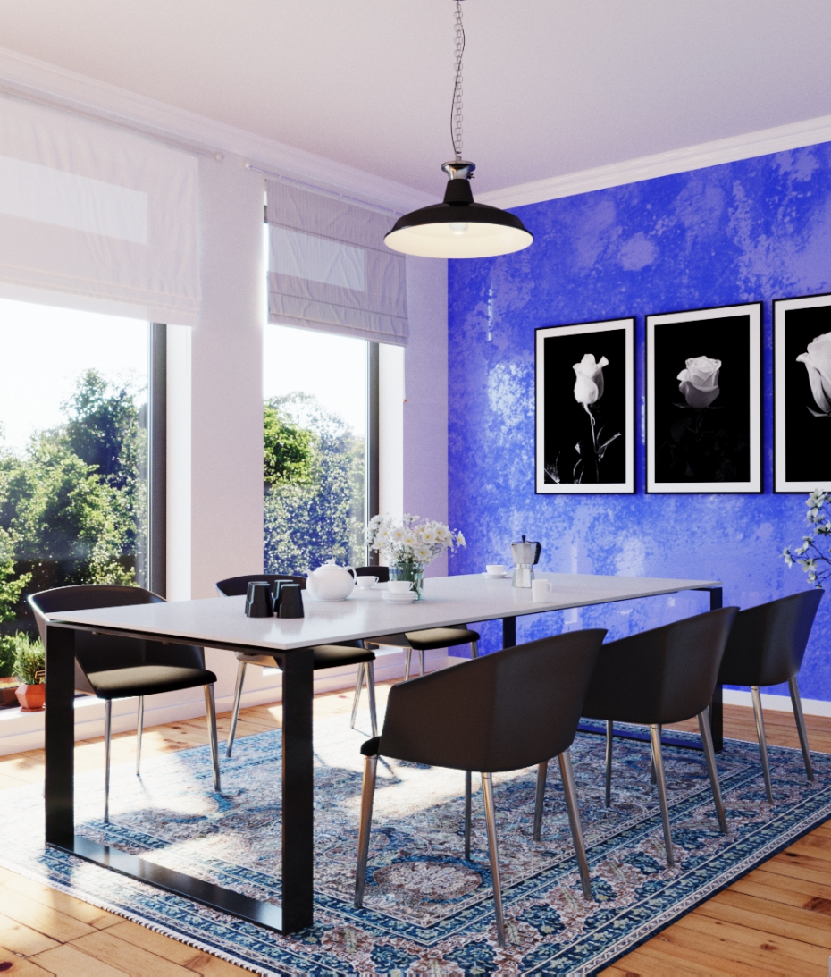 Dining Room in 3d max corona render image