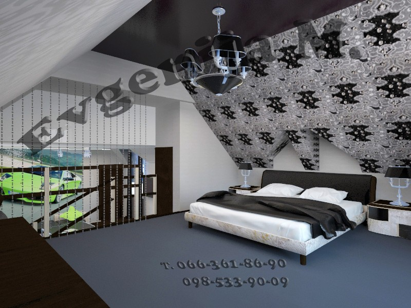 Room at second level  in  3d max   vray  image