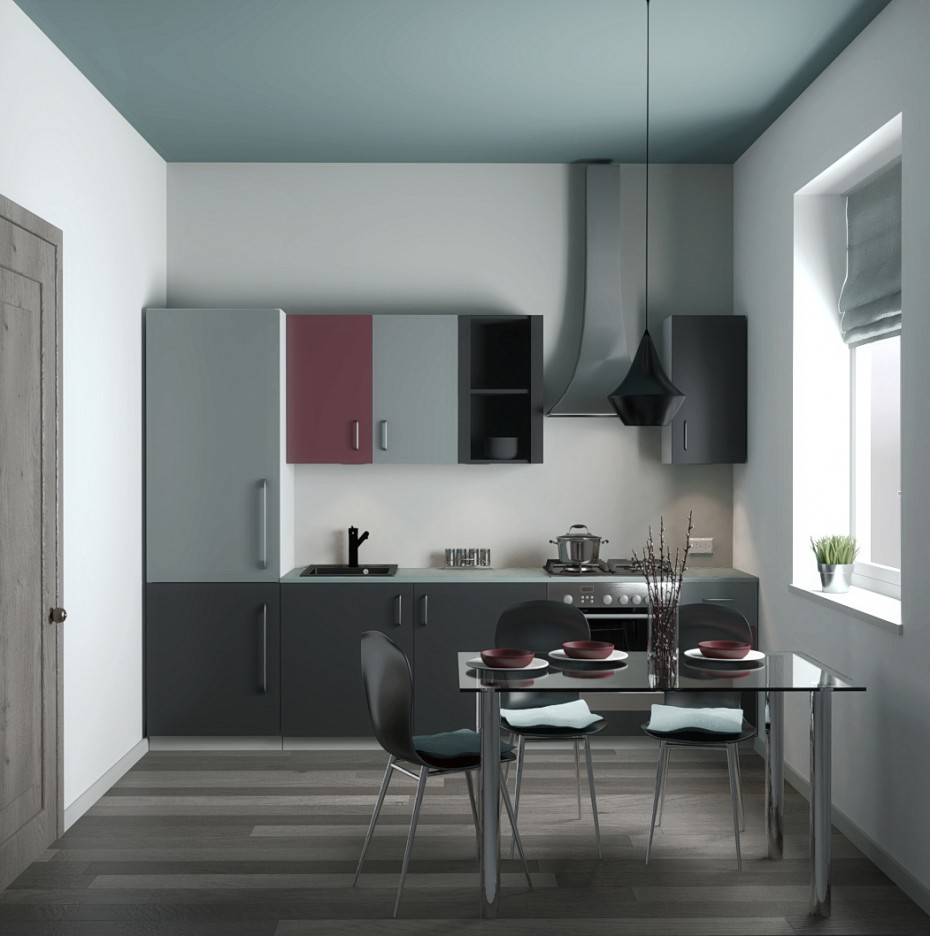 kitchenette in Blender cycles render image