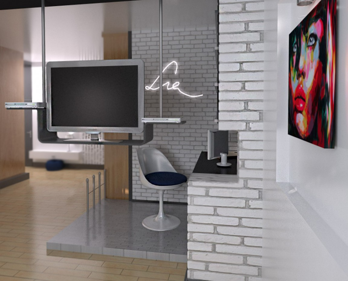 3d visualization of the project in the studio 3d max, render vray of laramoore