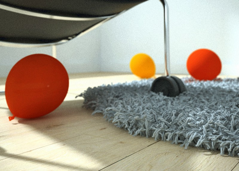 3d visualization of the project in the Realistic carpet 3d max, render vray of Vitez