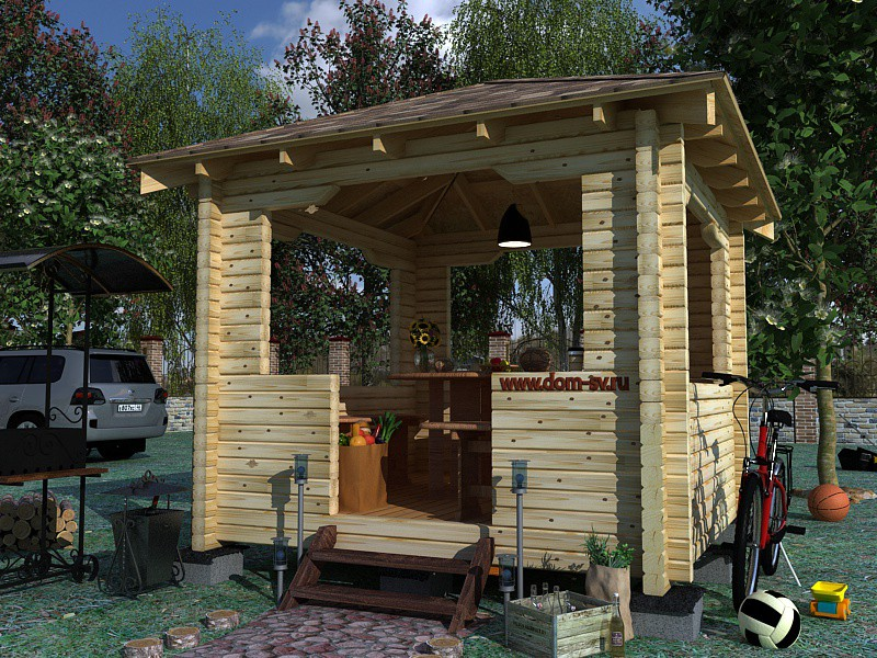 Gazebo  in  Cinema 4d   vray  image