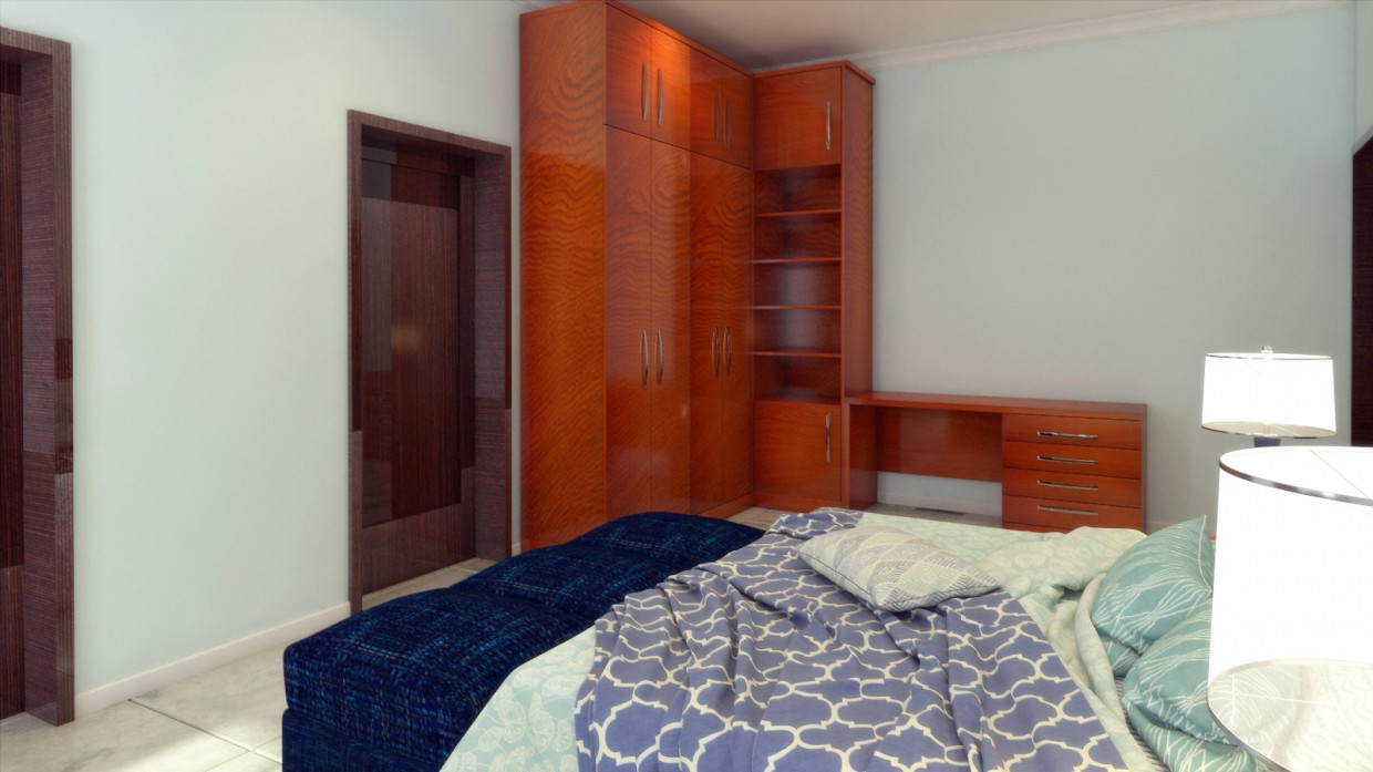 Bedrooms for son and daughter in 3d max vray 3.0 image