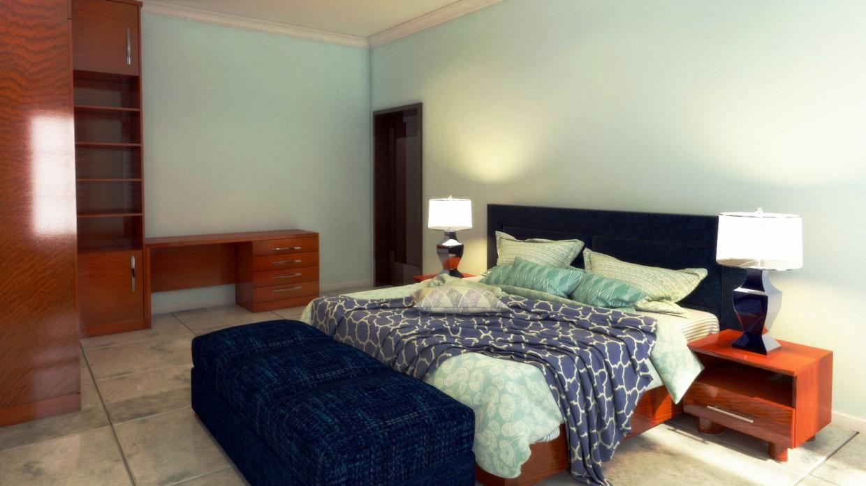 спальни для сына и дочь в 3d max vray 3.0 изображение