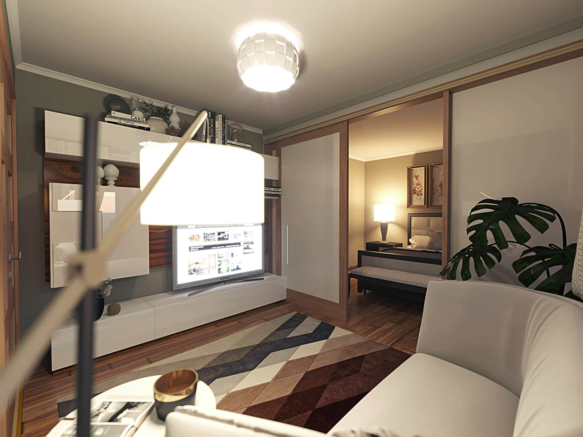 Separation of the hall in the apartment. in ArchiCAD corona render image