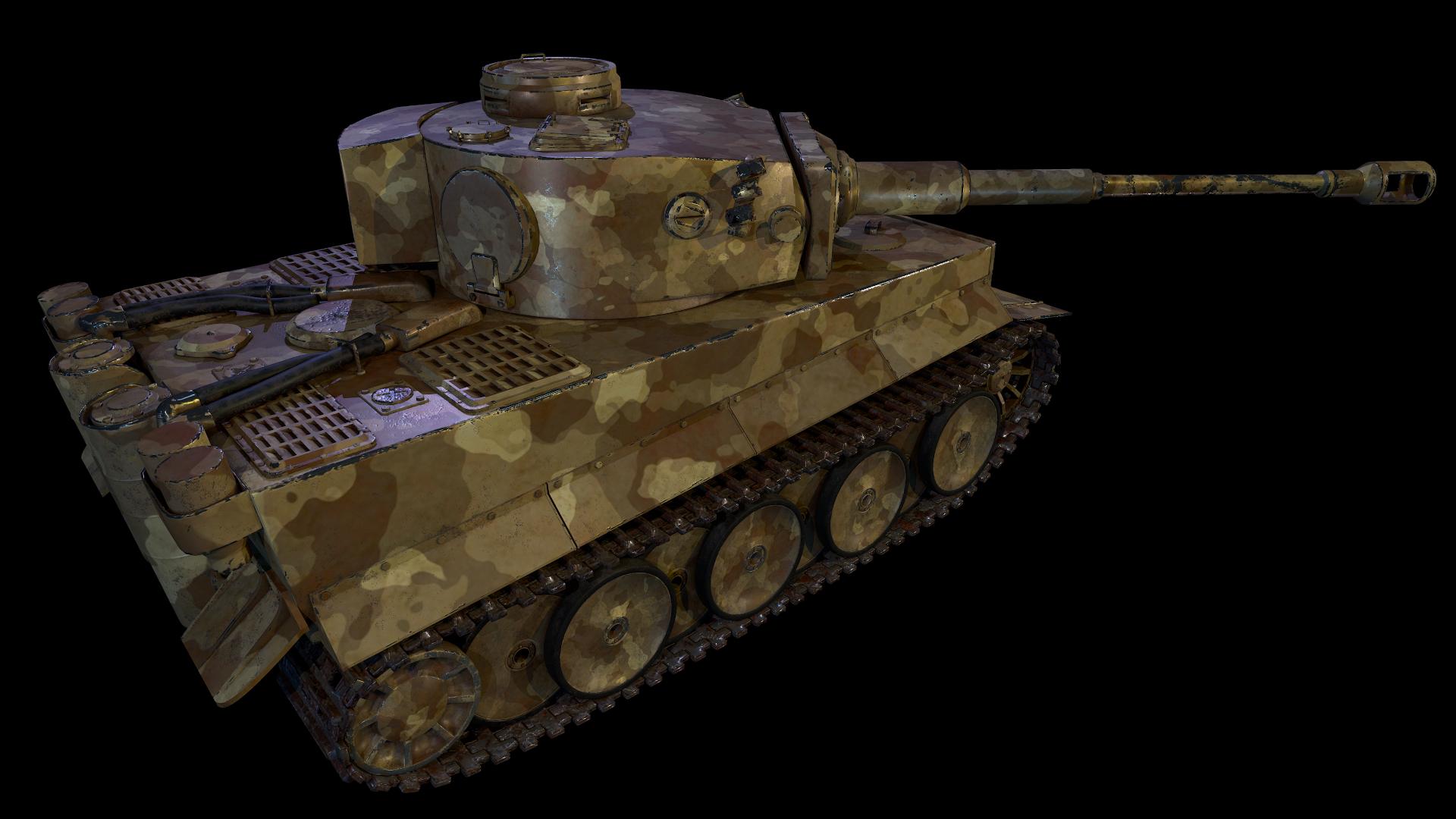 टैंक टाइगर 1 3d max Other में प्रस्तुत छवि