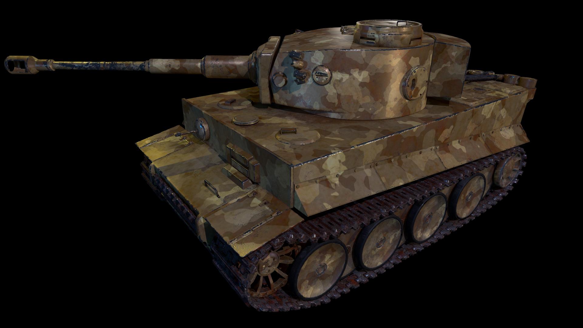 Tank Tiger 1 Visualización Y Diseño 3d Trabajo En Gráficos