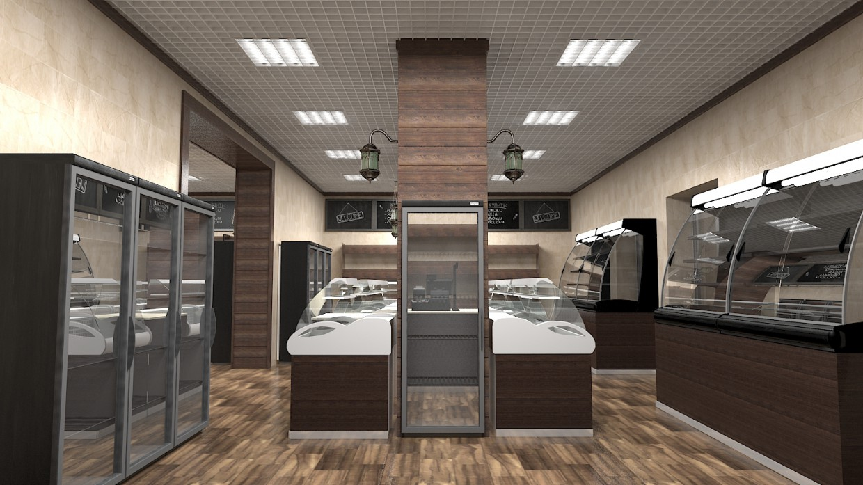 3d visualization of the project in the Shop 3d max, render vray of Lyubomir