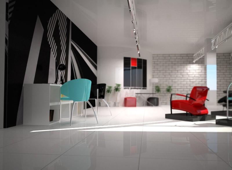 Дизайн студія в 3d max vray зображення
