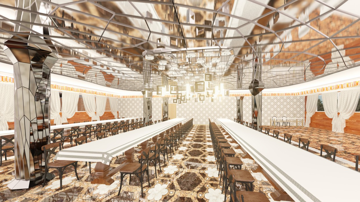 The Interior of the Banquet Hall in Blender Other image
