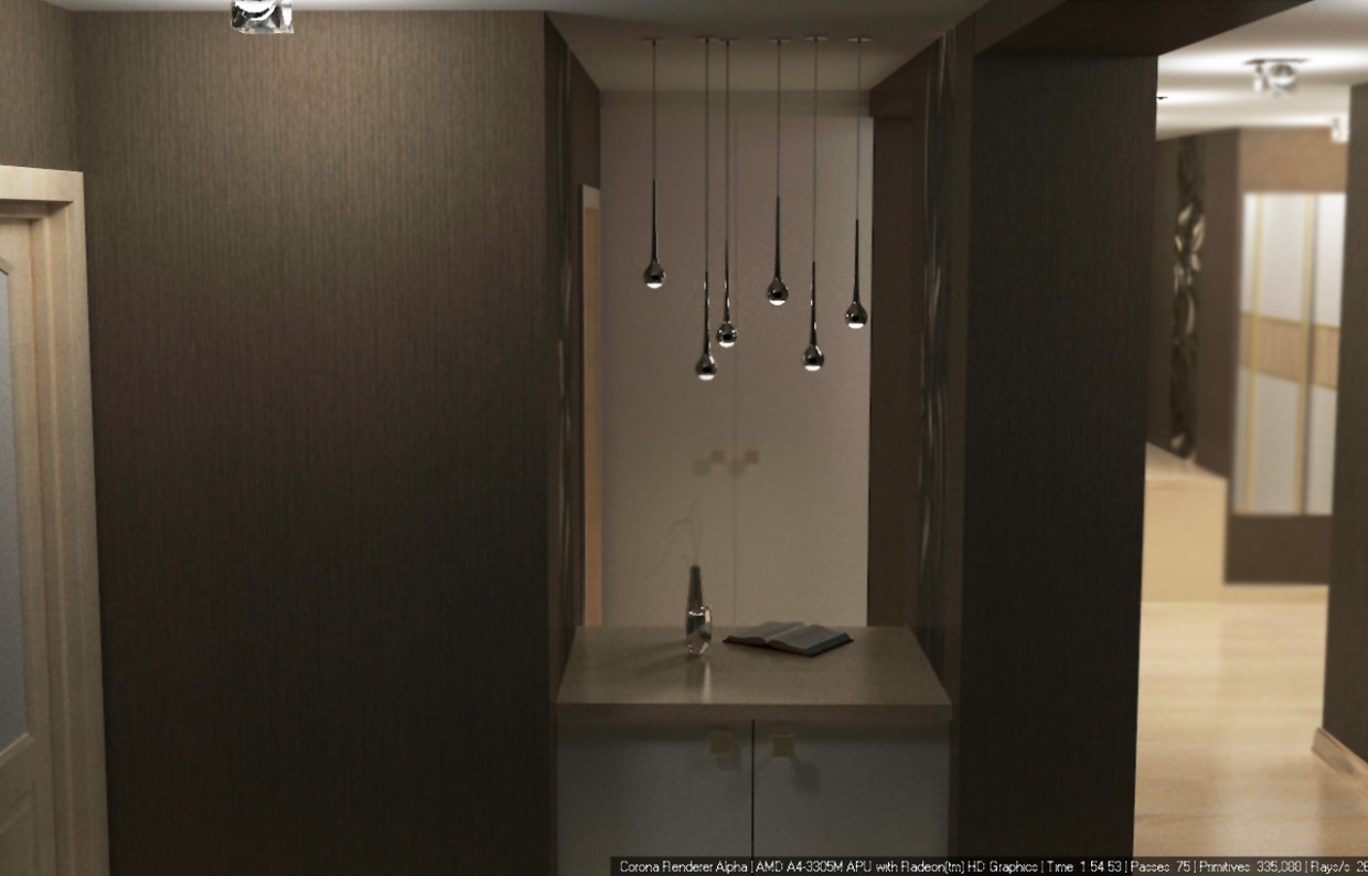 Hall in 3d max corona render image