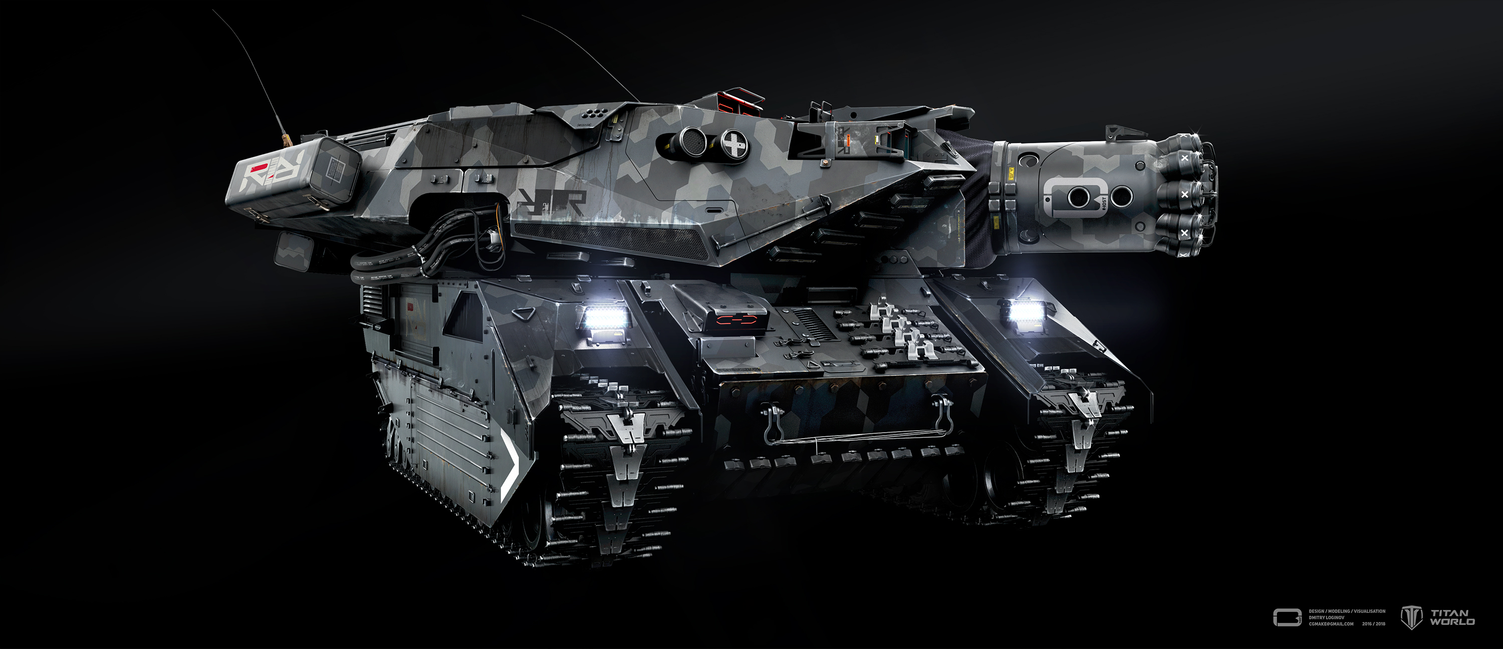 SIEGE TANK in 3d max vray 3.0 image