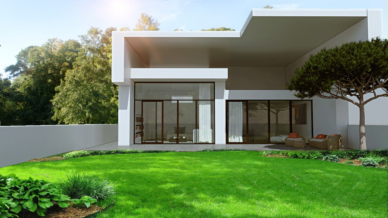 Exterior in 3d max mental ray image