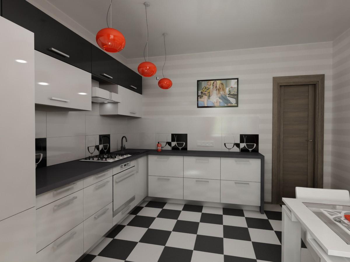imagen de Cocina de 12 m de sqr en 3d max vray