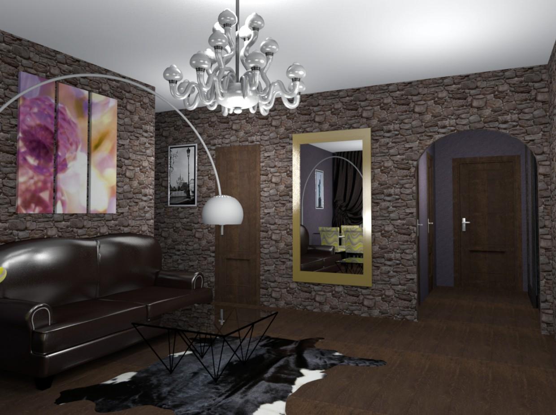"Living in style ""loft"" in SolidWorks FinalRender image"