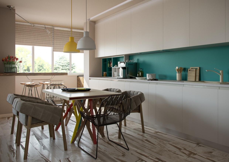 imagen de Apartamento de 70 m2 en Kiev en 3d max corona render
