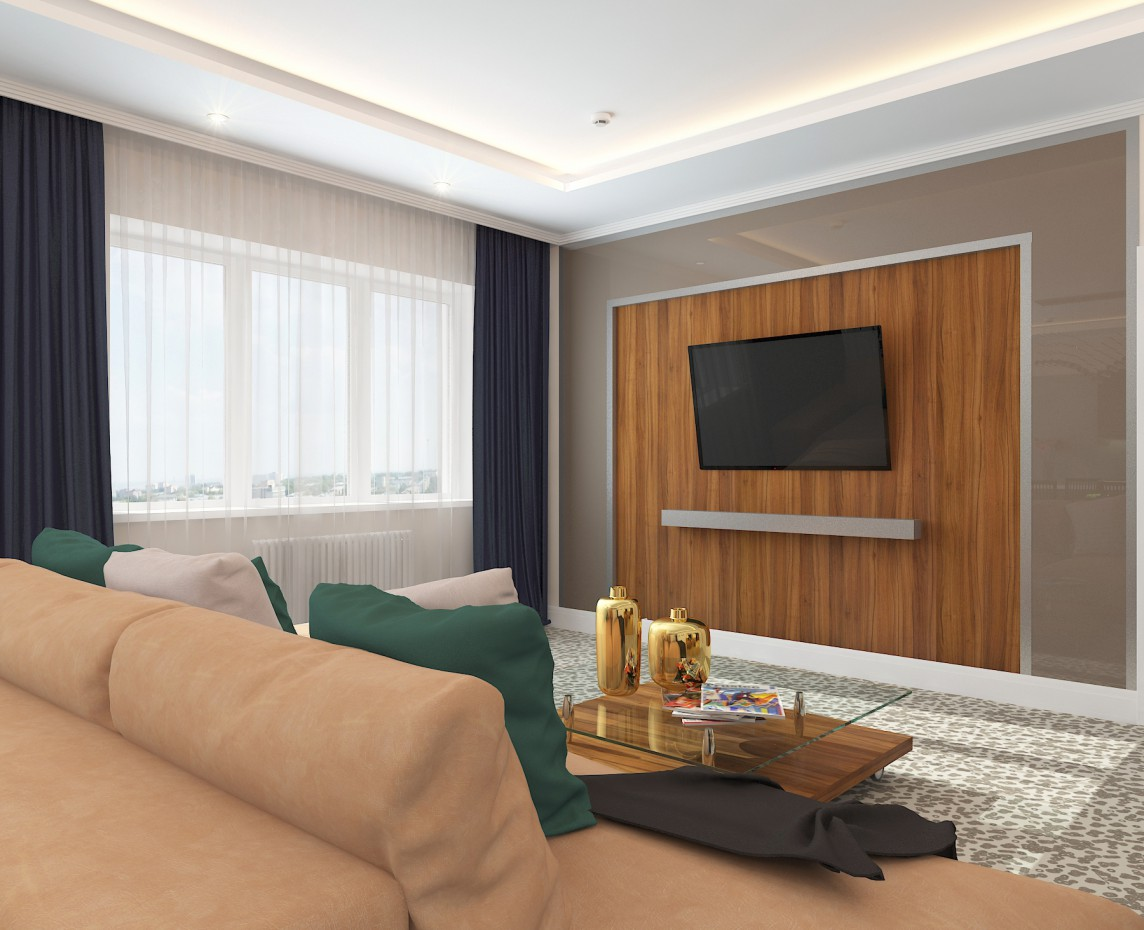 Luxury apartment in hotel  in  3d max   vray  image