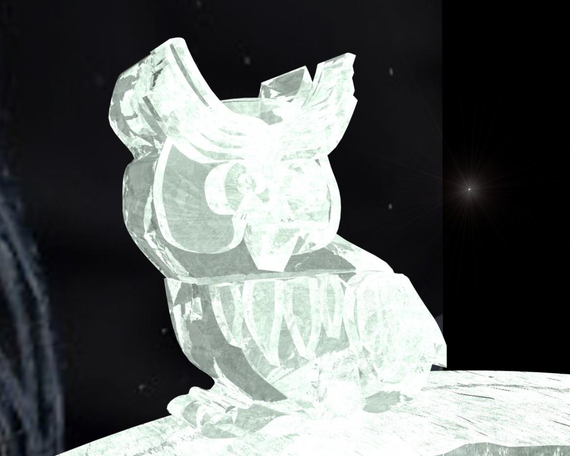 imagen de Escultura de hielo en 3d max mental ray
