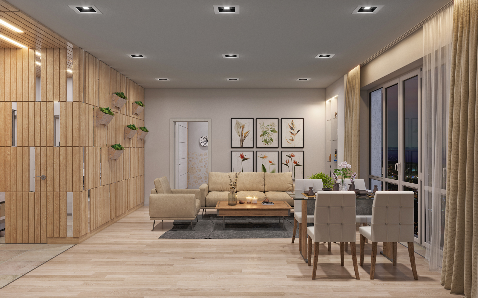 "Residential complex ""Nobel"" 2-bedroom apartment. in 3d max corona render image"
