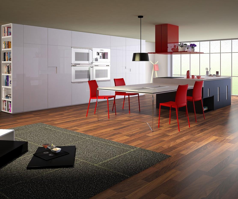3d визуализация проекта кухня в 3d max, рендер vray от mortarion