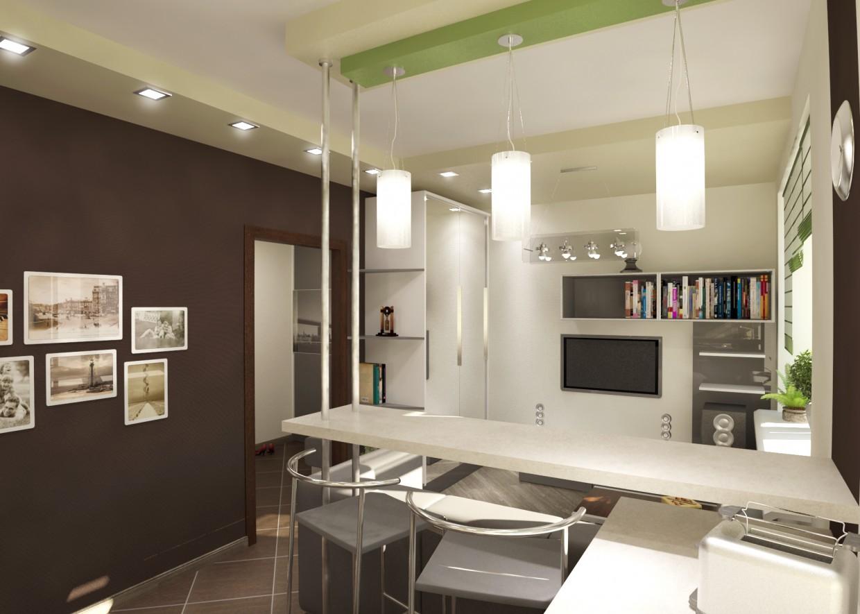 Flat - studio 23,6 sqr m in 3d max vray image