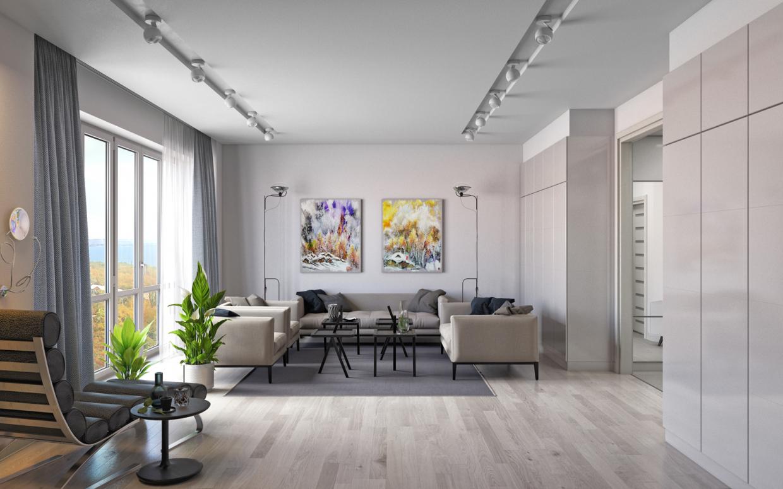 """Complexo residencial """"Nobel"""" apartamento de 1 quarto. em 3d max corona render imagem"""