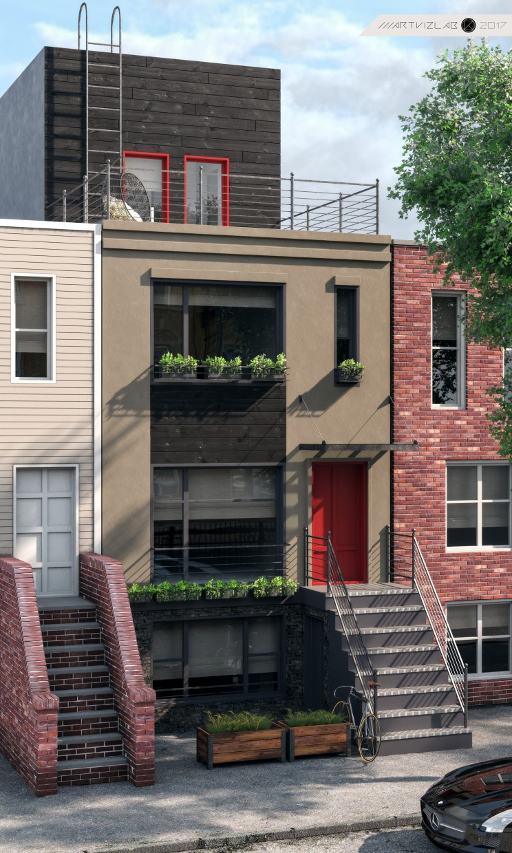 3d visualization of the project in the visualization of HOUSE in Brooklyn 3d max, render corona render of ///ARTVIZLAB