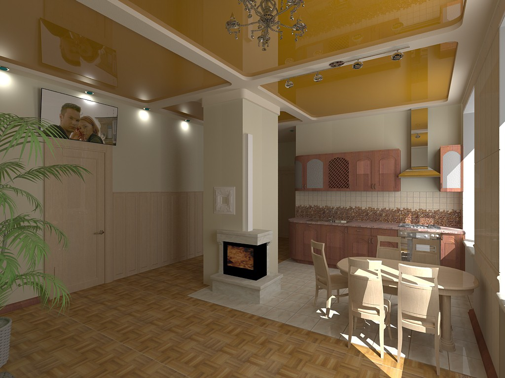 A flat in 3d max vray image