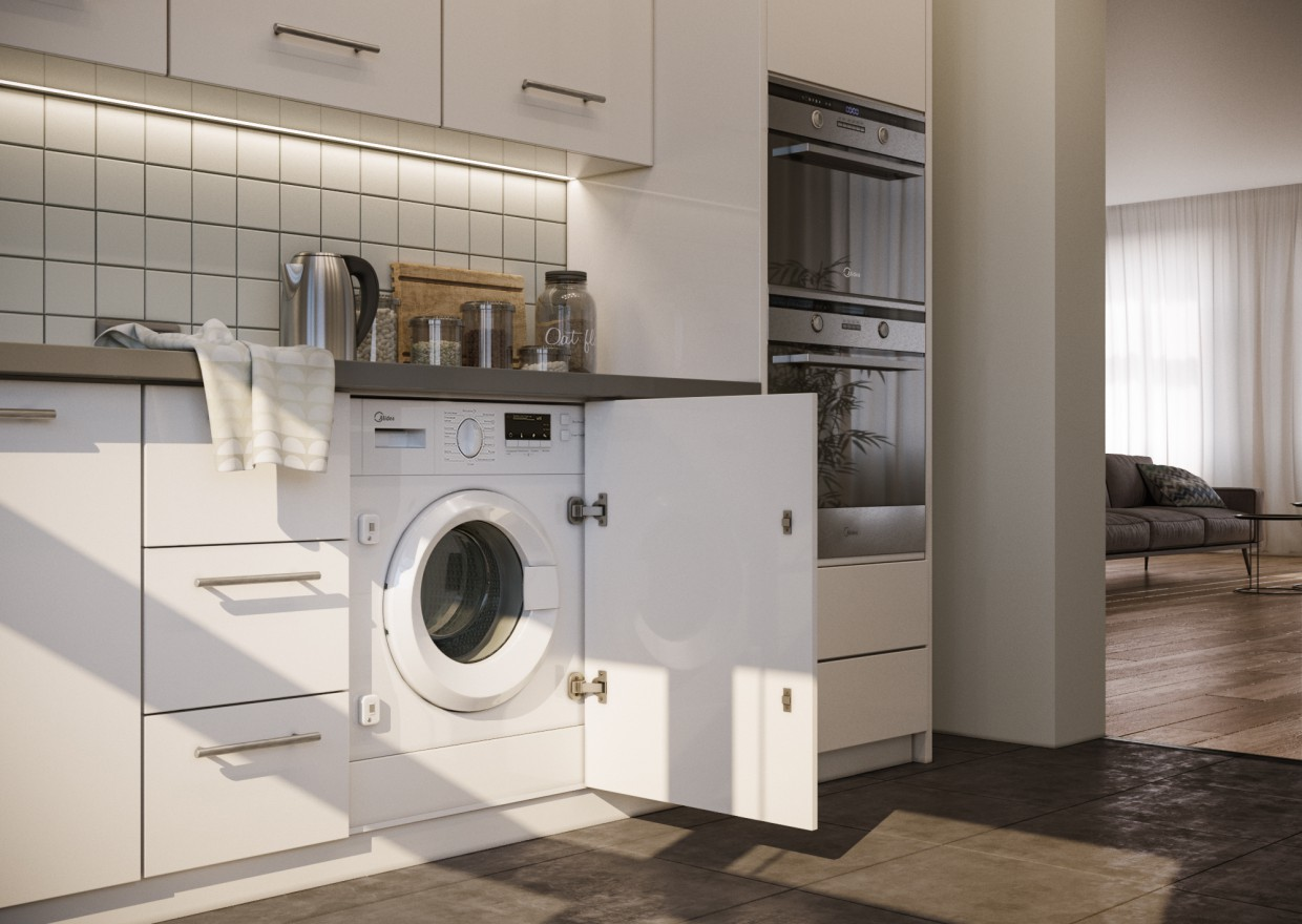 Modeling and rendering of the Interior of household appliances. in 3d max corona render image