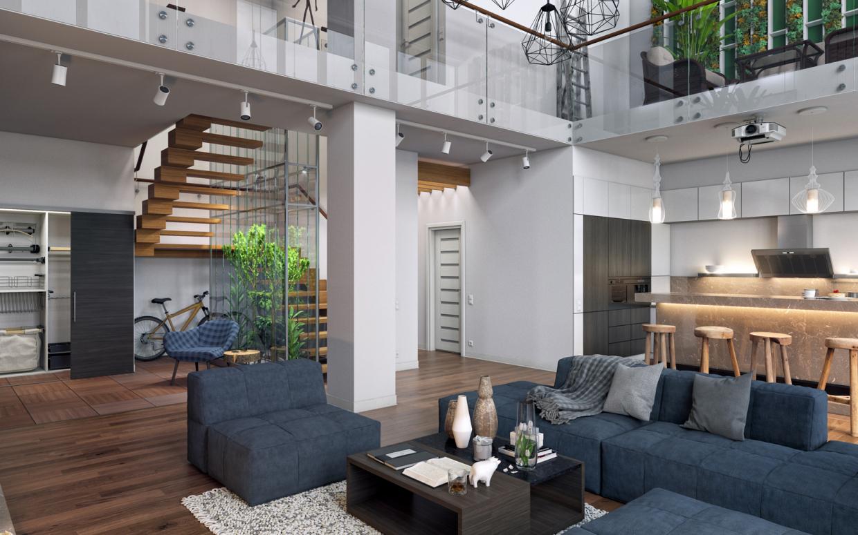 Minimalistische inneneinrichtung modernes penthouse in kanada