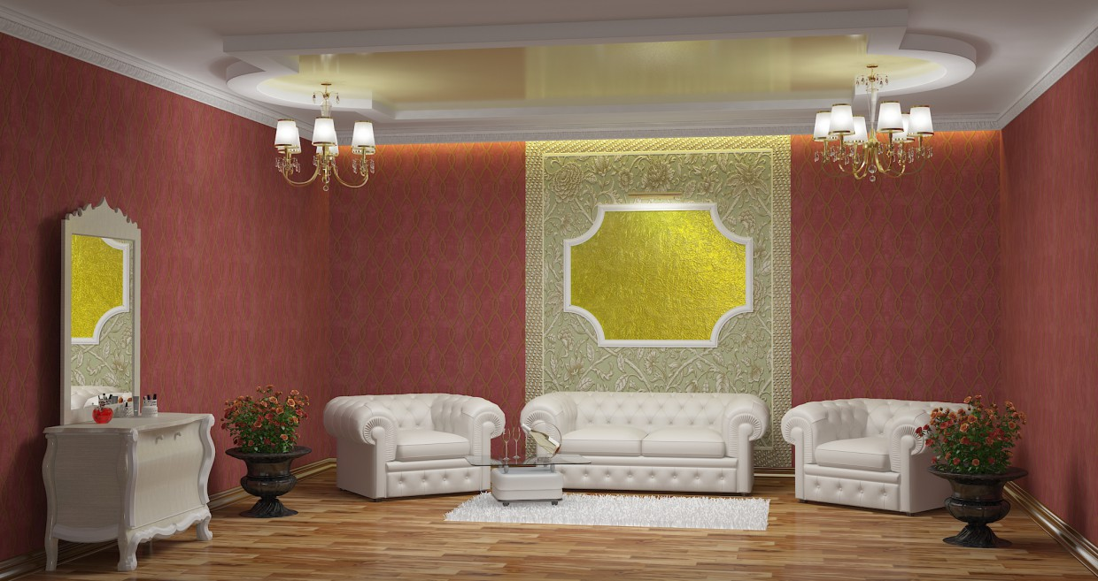 Lounge in 3d max vray immagine