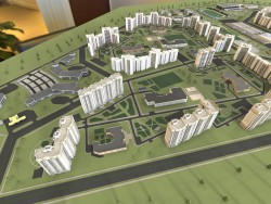 Layout visualization of residential area