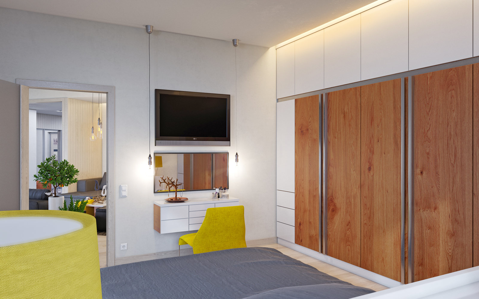 "Residential complex ""Nobel"". 2-room apartment. in 3d max corona render image"