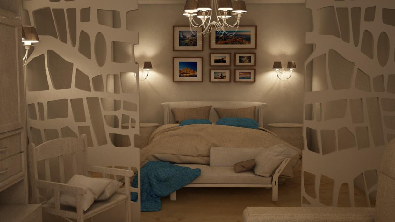 3d візуалізація проекту Інтер'єр квартири в Cinema 4d, рендер vray від VIKOZZZ