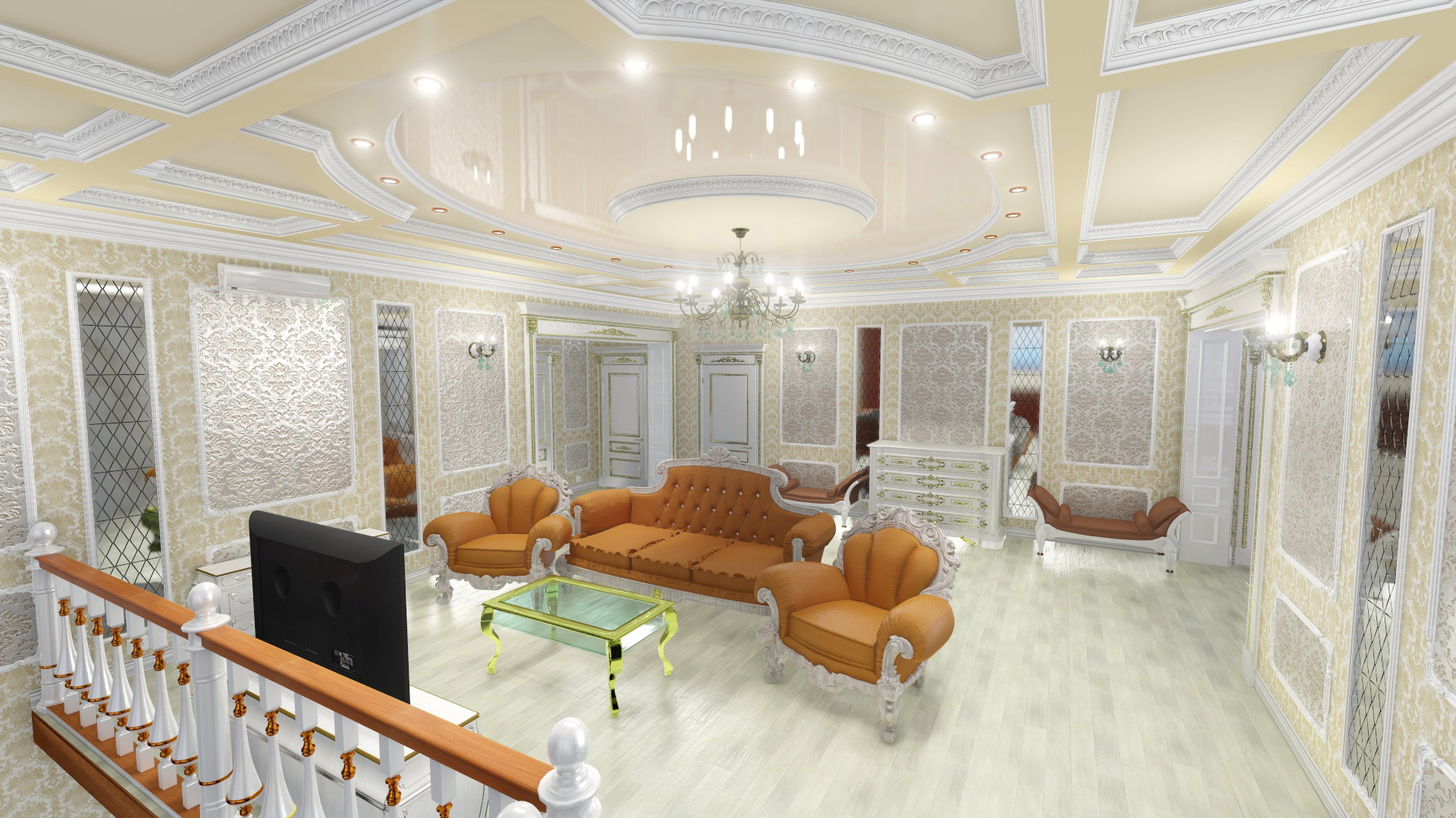 Hall 2nd floor private cottage. (Video attached) in Cinema 4d Other image